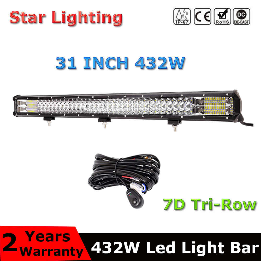 """Trabalho de 20/"""" Polegadas De Led Luz Bar 100W inundação Spot Combo Offroad lâmpada de condução 20"""