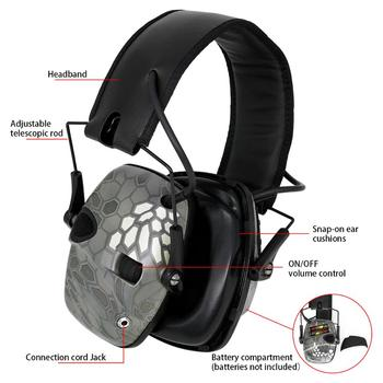 Tactical noise-cancelling headphones foldable electronic shooting protective earmuffs outdoor hearing protection hunting headset tactical headset active noise cancelling headphones shooting intelligent soundproof earmuffs pickup noise prevention