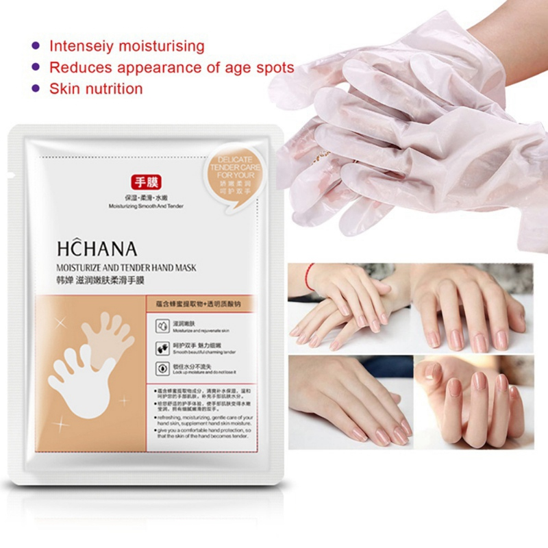 Honey Milk Hand Mask Moisturizing Smooth Fine Lines Brighten Skin Color Whitening Exfoliating Skin Care Hand Mask