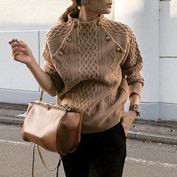 Turtleneck Women Winter Knitted Sweater Female Autumn Sexy Casual Loose Solid Color Pullovers Knitwear OL Tops Jumper pull femme turtleneck fashion patchwork knitted sweater women pullovers contrast color streetwear sweaters tops autumn winter pull femme