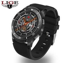 LIGE Smart Watch Men Women Full Screen Touch Heart Rate Bloo