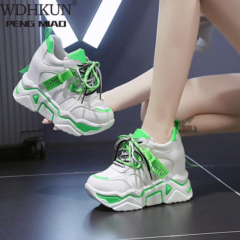 Women Shoes casual women platform sneakers chunky white pink ladies vulcanized shoes footwear 2020 tenis feminino WDHKUN 603