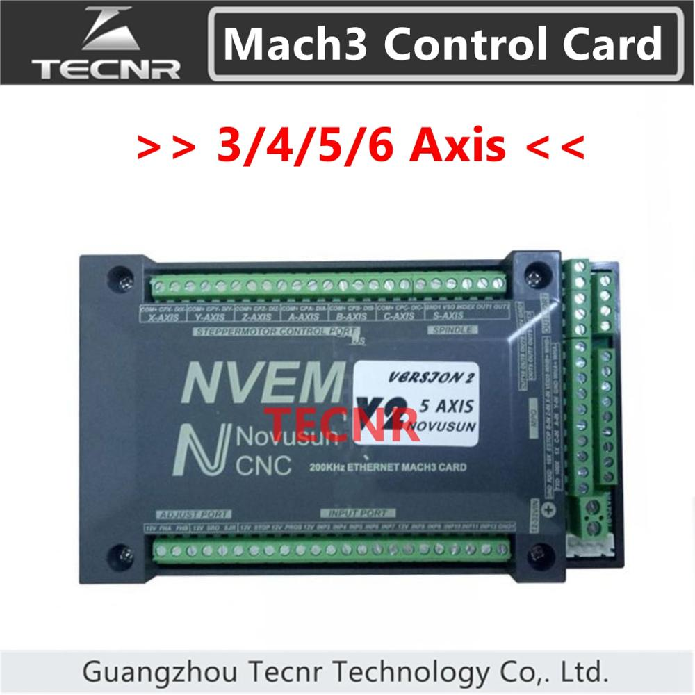 NVEM Mach3 Control Card  3 4 5 6 Axis Ethernet Port For CNC Router 300KHz For For Enrgaving Cutting Machine