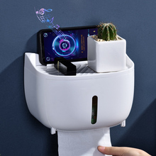 Toilet Paper Holder Wall Mount Toilet Tissue Box Roll Paper Dispenser Storage Box Tray Bathroom Accessories newest dental tray disposable cup storage holder paper tissue box for dental chair