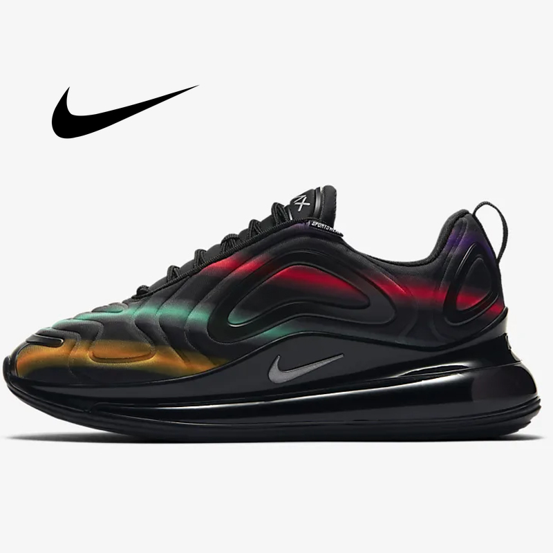 Nike Air Max 720 Women's Running Shoes Breathable Athletic Sneakers Comfortable Sports Shoes Fashion Black Multi  AR9293-102