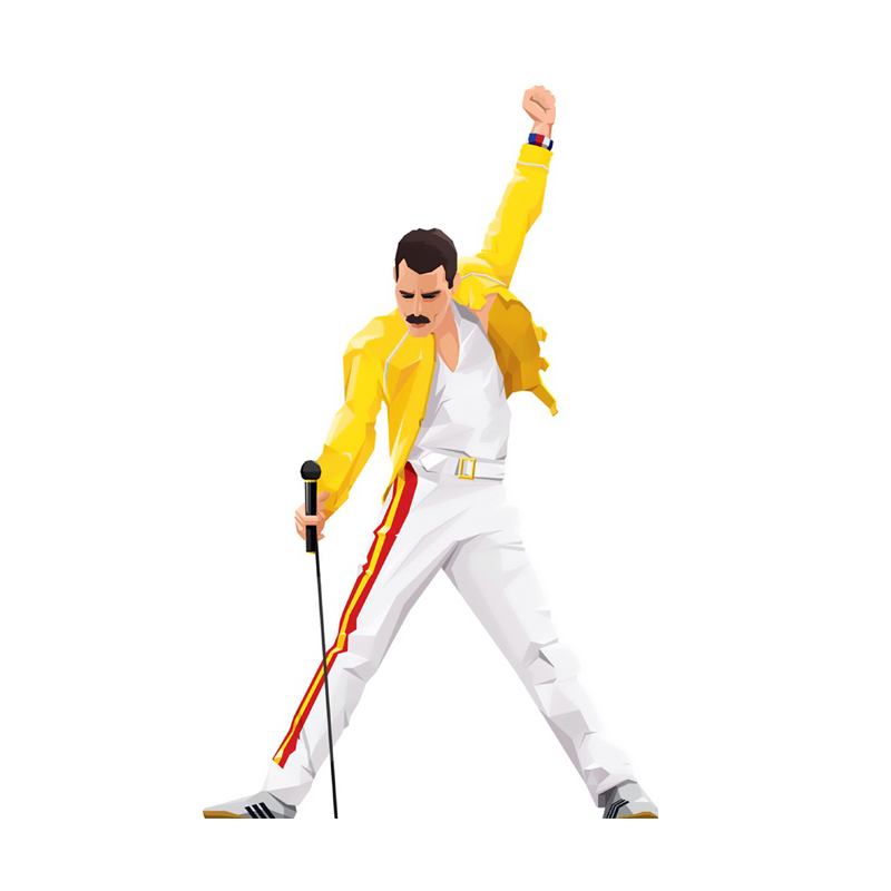 Freddie Mercury Clothes Patches Heat press Transfers Stickers Iron on DIY Handmade Decorations Applique for Coats T shirts E0606 in Patches from Home Garden