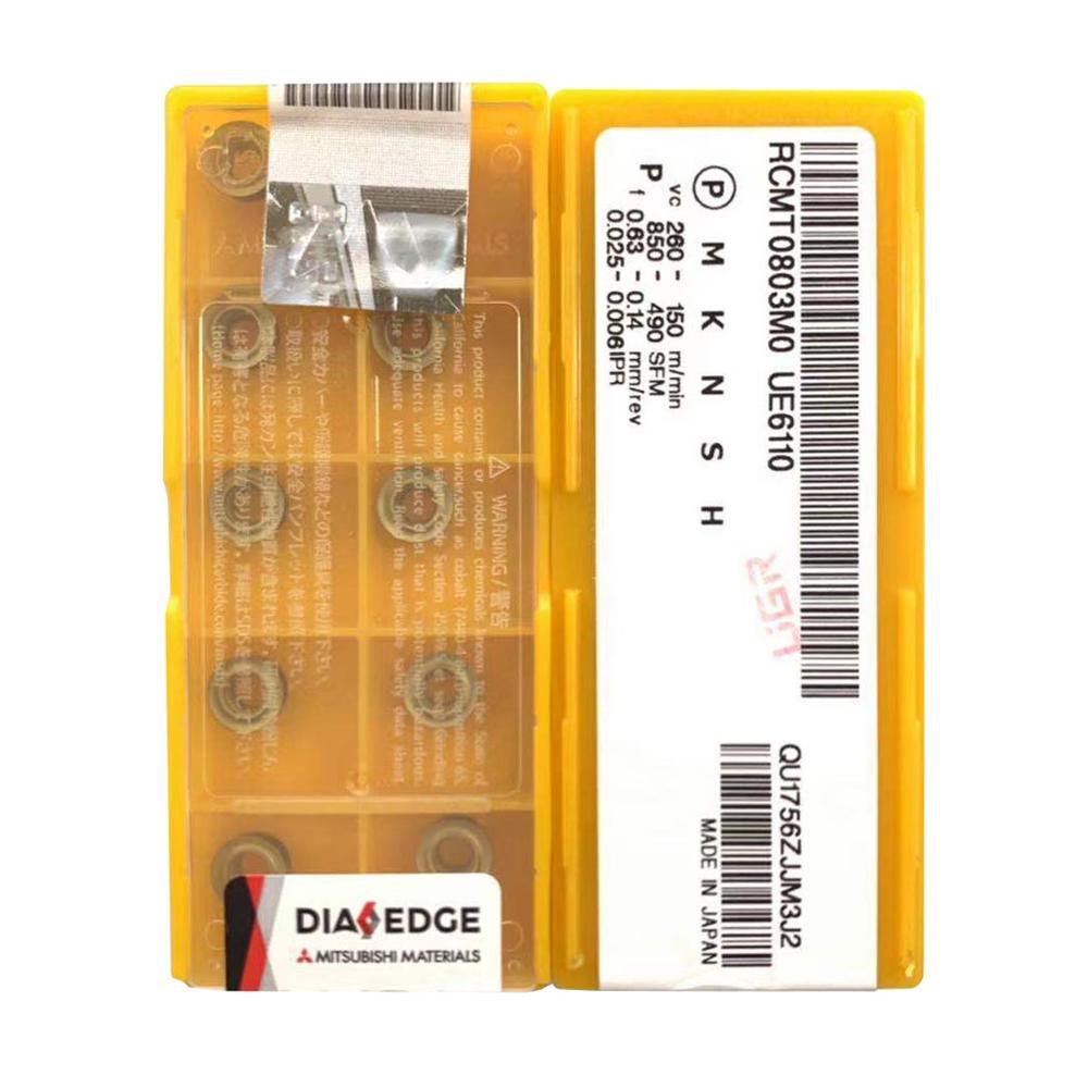 NEW MITSUBISHI RCMT0803MO UE6110 Carbide Inserts 10PCS//Box