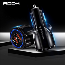 цена на QC 3.0 Quick Car Charger Quick Charge Mobile Phone Charger Dual USB For Huawei Xiaomi Samsung Car QC3.0 Adapter USB Charger