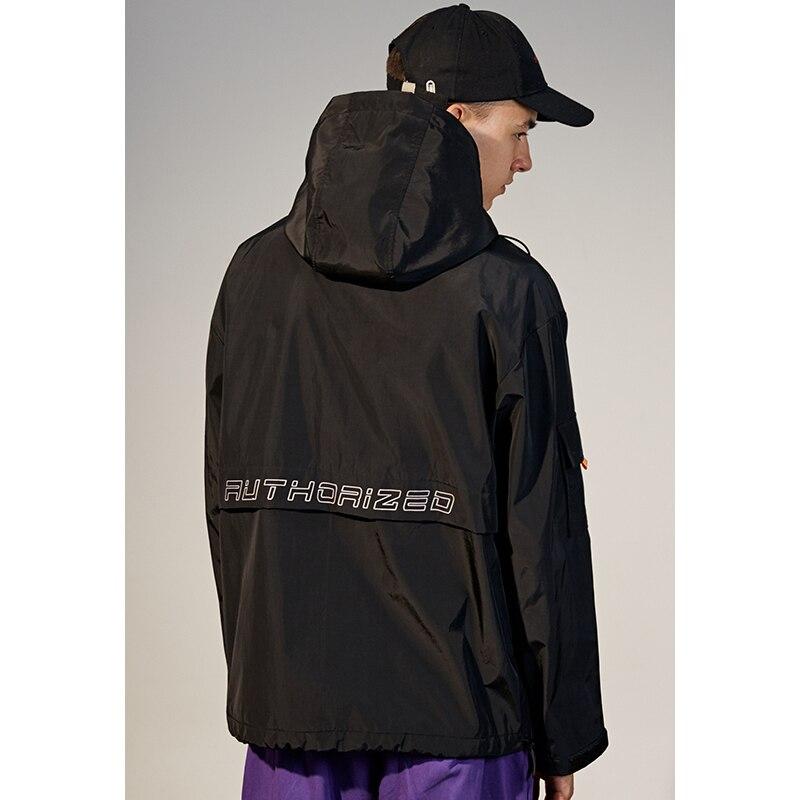 Yasword Men Hooded Jacket Coat Windbreaker Man Autumn Winter Outwear High Collar Turtle Neck Jackets Tops Sportswear Pockets in Jackets from Men 39 s Clothing