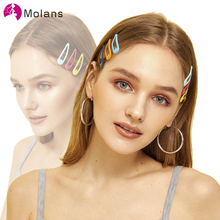 Molans Solid 50pcs/lot Cute Hair Clips Simple Candy Colors Sturdy Alloy Hairpins for Women Girls Chic Mini Hair Clips Head Wear