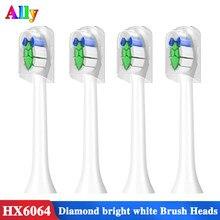 Para philips sonicare w2 optimal branco hx6063/67 substituição cabeças de escova diamante limpo branco 3 6 9 série escova de dentes elétrica