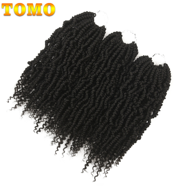TOMO Bomb Twist Crochet Braids Pre-looped Passion Twist Crochet Hair Ombre Spring Twist Synthetic Braiding Hair Extensions 14 2