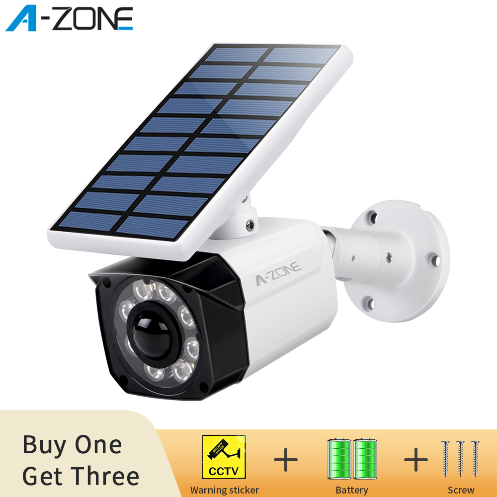 Outdoor Dummy Camera Security Cameras For Home Video Surveillance Fake Camera HD CCTV With Battery Solar Power Flashing LED
