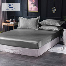 Liv-Esthete 1PCS Fitted Sheet Black Luxury Rubber Elastic Band Mattress Cover Bed Linen Euro Decorative Adult Bedclothes