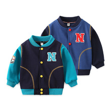 Kids Spring Jacket Boys Coat Blue Patchwork Kids Jackets for Boys 2-7T Baby Spring Jacket Baby Boy Clothes Toddler Jackets Coats цена 2017