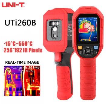 UNI-T-Detector geotérmico infrarrojo, dispositivo con cámara de temperatura Industrial, resolución de 256x192, HD, UTi260B 1