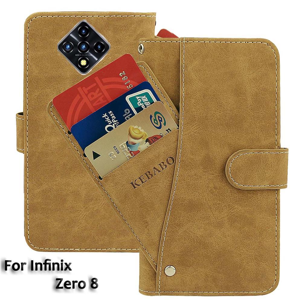 Vintage Leather Wallet Infinix Zero 8 Case 6.85