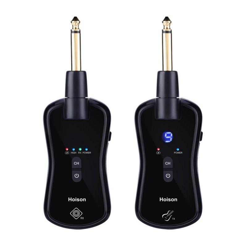 2019 transmetteur de guitare sans fil récepteur ensemble guitare transmetteur sans fil pour guitares électriques basse violon