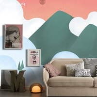MASAR Chinese mythology painting cartoon mural children's room custom wallpaper bedside background wall paper Yunzhongshan