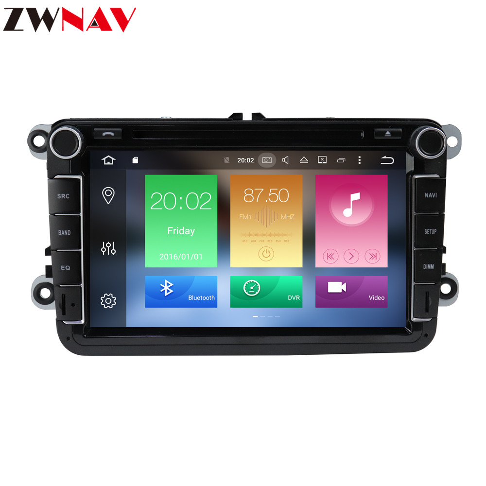 Android 9 1 Car Multimedia player 2Din Car DVD For VW Volkswagen Golf Polo Tiguan Passat