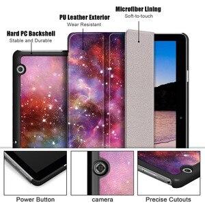 """Magnetyczny skórzany pokrowiec Case dla Huawei MediaPad T3 10 T5 9.6 """"8.0 7"""" Wifi/3G AGS-L09/W09 AGS2-L03 BG2-W09/U01 KOB-L09 Tablet Case"""