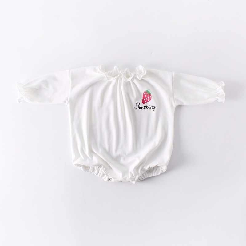 תינוק בגדי ילדה תינוק סרבל תינוקות ורוד Romper בננה תות תינוק Romper החדש נולד בגדי תינוקות פעוט סרבל חג מולד תלבושת
