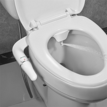 Bidet Attachment Ultra-Slim Toilet Seat Attachment With Brass Inlet Adjustable Water Pressure Self-cleaning Ass sprayer 2