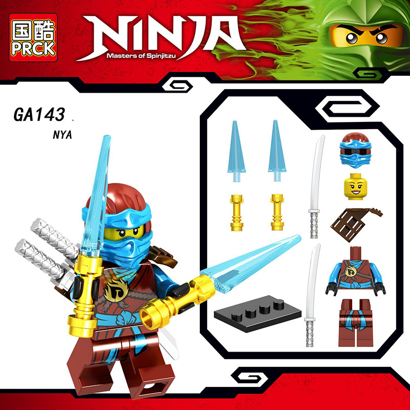 Single Sale Compatible Legoinglys Movie  Ninjagoed FigureS NYA ECHO ZANE  JAY GENERAL KOZU Blocks Learning Toys Boys  Gifts
