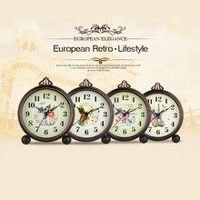 Romano de escritorio Digital Relojes Retro antiguo gran aguja vintage relojes Vintage decoración para el hogar de mesa relojes настольные часы