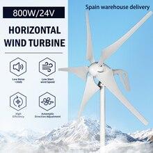 Nova energia 600w 800w 1000 12v 24v pequeno moinho de vento 3 5 lâminas horizontal turbina eólica gerador livre mppt controlador para homeuse