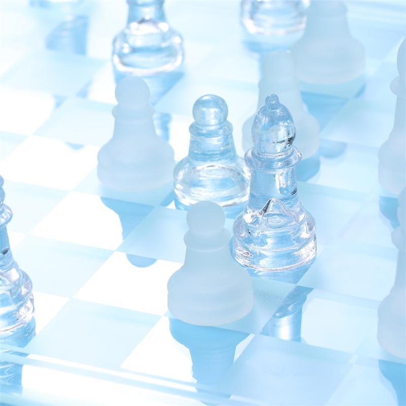 1 компл., шахматные аксессуары из наземного стекла, международные матовые стеклянные Кристальные шахматы, настольные игры, игрушки, принадлежности для друзей, вечерние