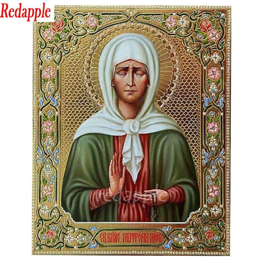 Diy iamond Painting Full Square/Round Saint Matrona the Blind of Moscow 5d diamond Embroidery Mosaic Religion Icon Handmade arts
