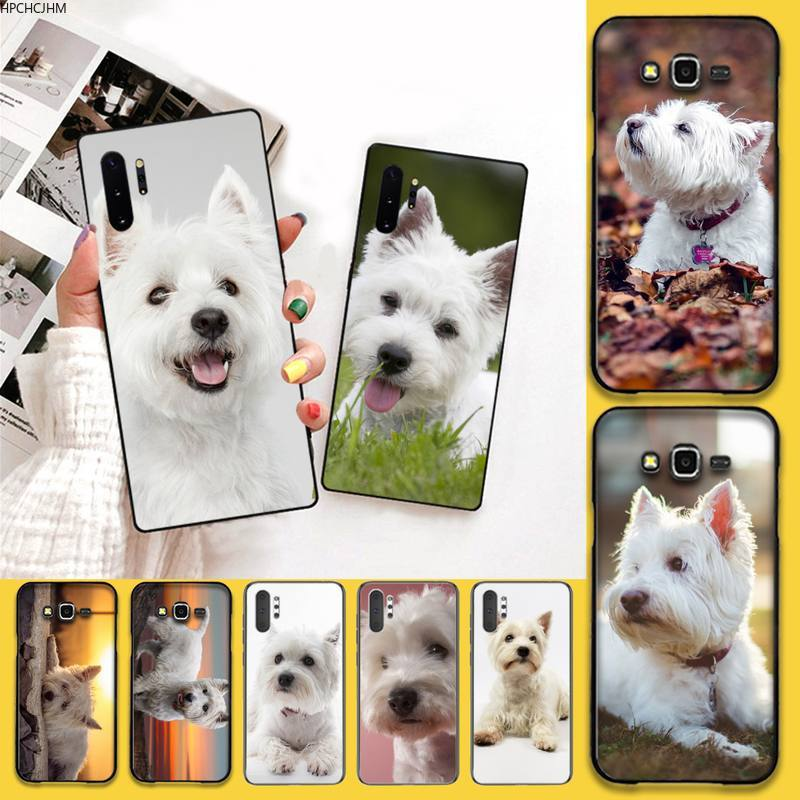 HPCHCJHM West Highland Terrier Westie <font><b>Dog</b></font> Puppy Cell Phone <font><b>Case</b></font> For <font><b>Samsung</b></font> Note 7 8 9 10 pro Galaxy <font><b>J7</b></font> J8 J6 Plus 2018 Prime image