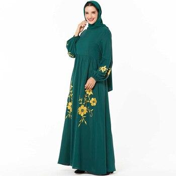 Kaftan Abaya Dubai Turkish Muslim Dress Islamic Clothing Abayas For Women Caftan Marocain Robe Islam Hijab Dress Djelaba Femme