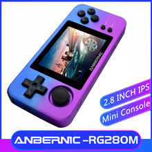 ANBERNIC NEW RG280M Retro MINI Games 2.8 inch IPS Video games Handheld game console 64Bit PS1 emulator consola portatil RG280