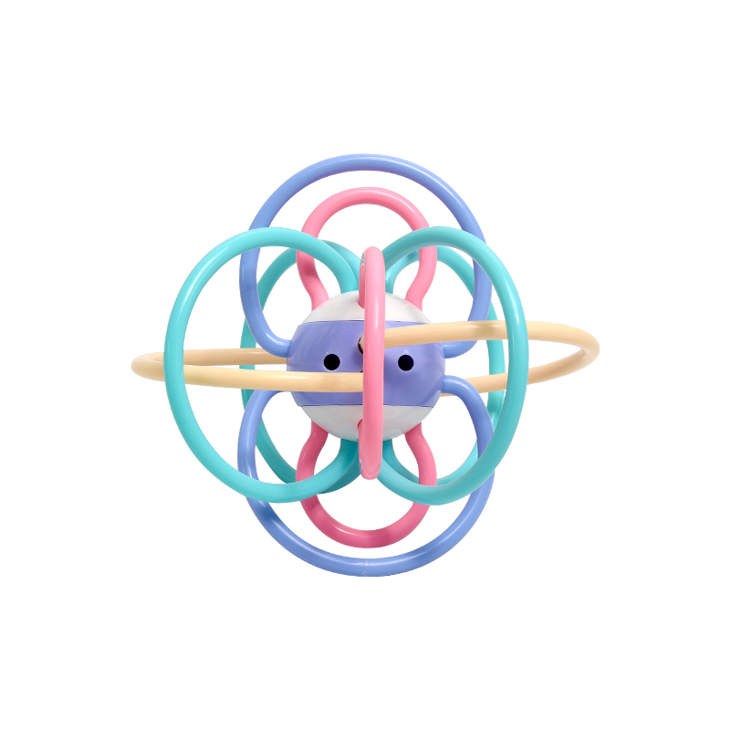 Baby Soft Silicone Teethers Manhattan Ball  Music Hand Bell Ball Baby Teether  Juguetes Bebes 24 Meses  Nacimiento Bebe
