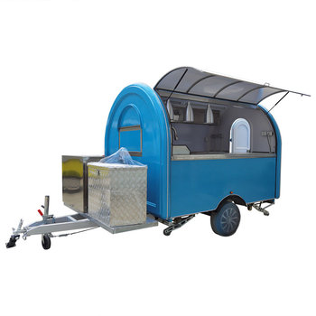 custom made food truck concession food trailer Blue Food Truck Mobile Concession Food Trailer