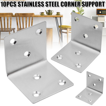 Fastener Right-Angle-Brackets with Screws L-Shape Joints Plate--M25 10pcs 90-Degree Stainless-Steel