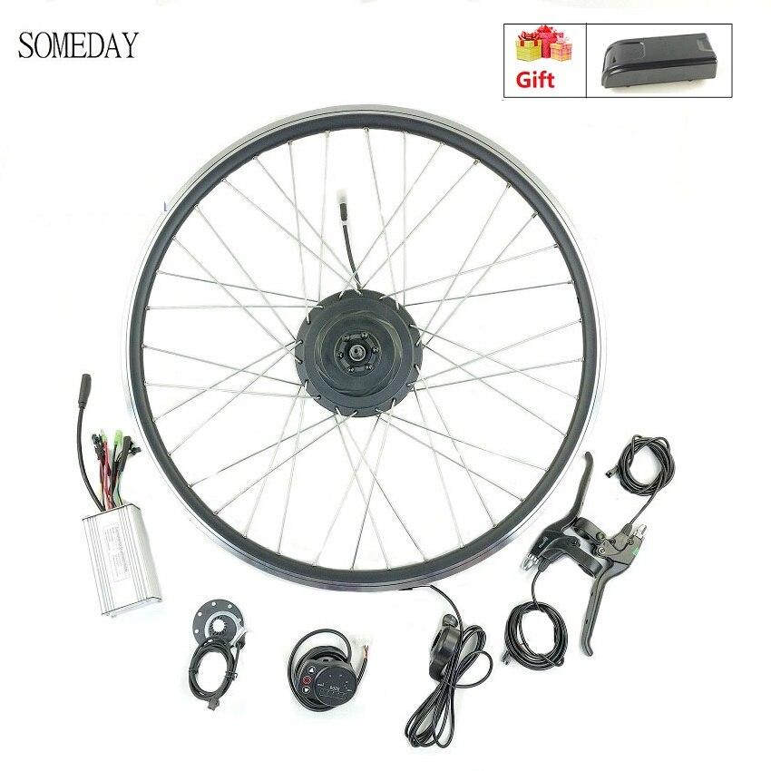 Un jour 36V500W kit de conversion de vélo électrique avec KT LED900S affichage kit de moteur de moyeu de roue avant avec rayons et jante