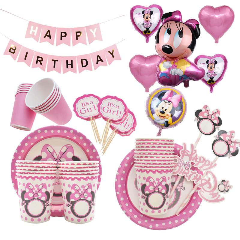 Minnie Mouse Decoraciones Para Fiestas Cumpleaños Baby Shower De Niña Globos Set