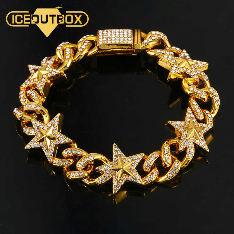 Luxo 20mm Iced Out Miami Cubano Colar Correntes Para Homens de Prata de Ouro do Hip Hop Iced Out Bling CZ Pavimentada rapper Colar de Jóias
