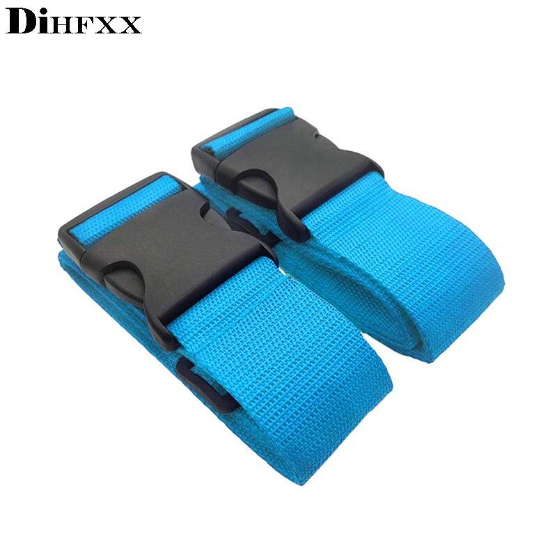 Dihfxx 7 cores ajustável náilon lock travel bagagem correias cinto de proteção acessórios viagem mala embalagem cinto viaje