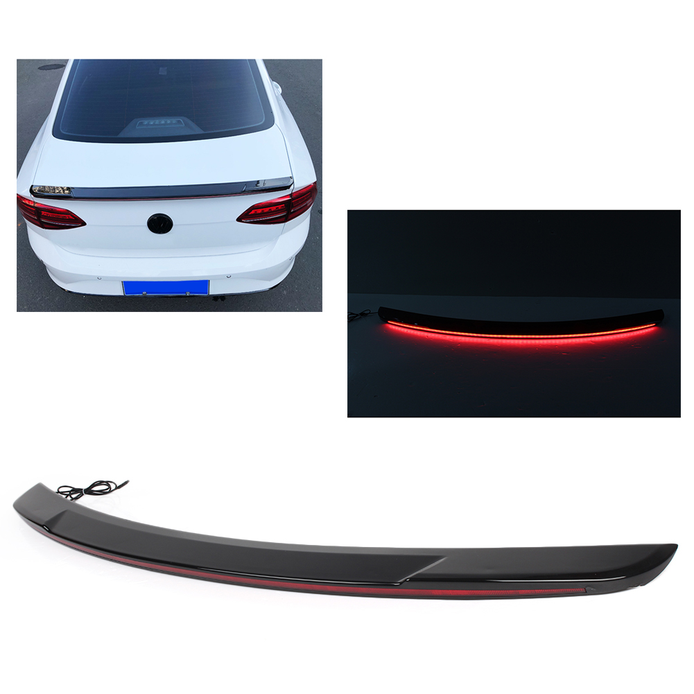 Car Rear Tail Trunk <font><b>Spoiler</b></font> Wing Lip Trim Cover w/ LED Light For <font><b>Mazda</b></font> <font><b>3</b></font> Axela 2012 2013 2014 2015 2016 2017 <font><b>2018</b></font> Streamer Style image