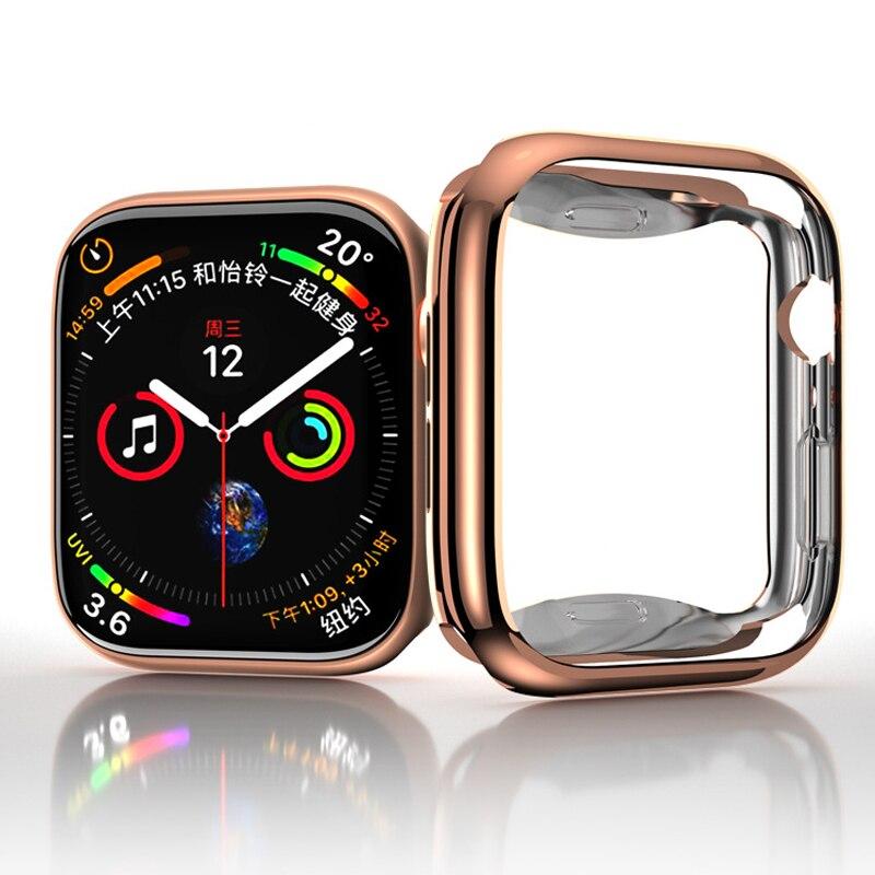 Чехол для Apple watch series 3 4 5 SE 6, защитный чехол для экрана, бампер, браслет, Apple Watch, 44 мм, 40 мм, 42 мм, 38 мм, аксессуары