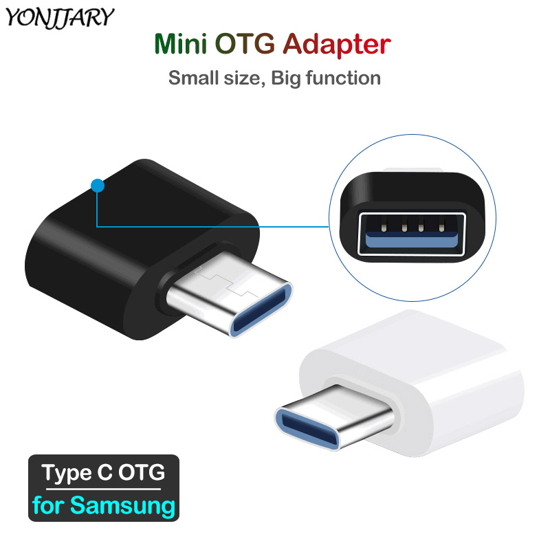 2Pcs USB Type C OTG Adapter For Samsung S8 S9 S10 S20 Plus OTG Reader Data Converter For Galaxy Note 8 9 10 A6s A9s A8 2018 Plus