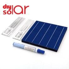 Solar Panel DIY 95W 100W 150W 200W 250W 300W 350W 380W Ladegerät kit Polycrystall Solarzelle Tabbing Draht Schienen Flux Stift Module