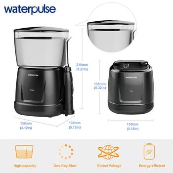 Waterpulse V700 and V400 9pcs Jet Tips Water Power Flosser 1000ml Capacity Oral Irrigator Traveler Portable Dental Oral Flosser