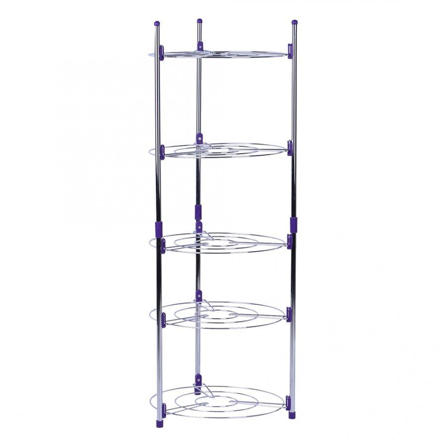 5 Tier Adjustable Home Kitchen Wire Metal Shelves Storage Organizer Rack Durable