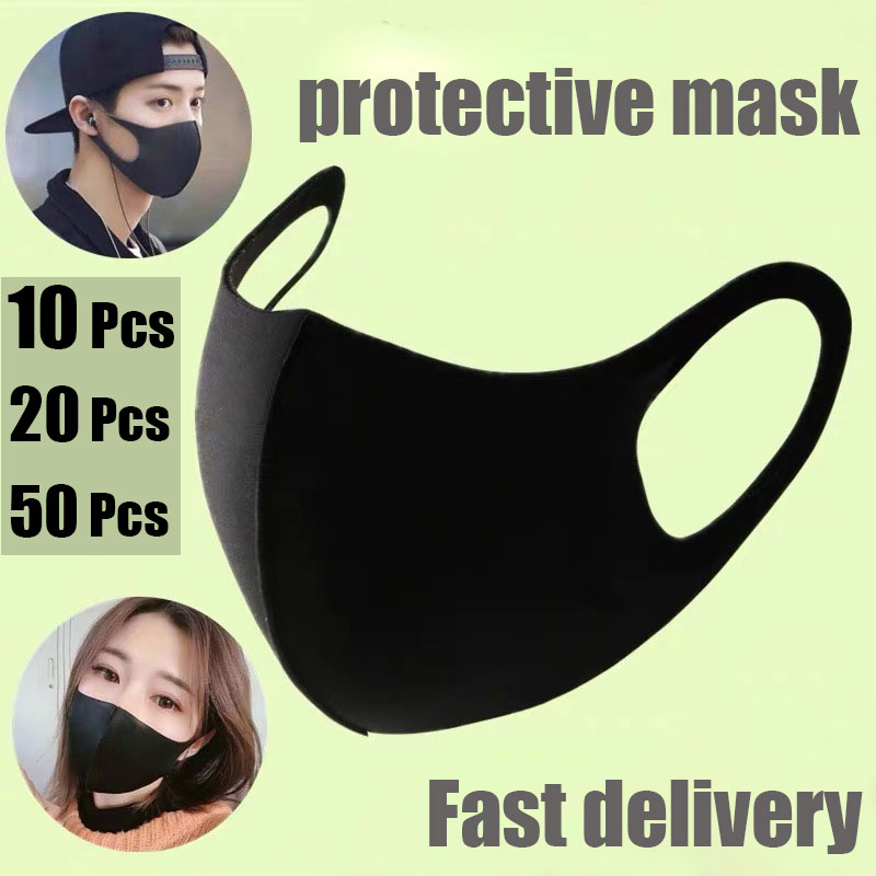 Direct Face Mouth Mask Disposable Black Mouthmask For Unisex Anti-dust Mouth Facemask Wholesale Breath Straps Washable Reusable