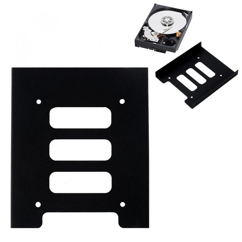Черная Универсальная док станция держатель жесткого диска для ПК корпус жесткого диска 2,5 дюйма SSD HDD до 3,5 дюйма металлический монтажный адаптер кронштейн|Подставки для планшетов|   | АлиЭкспресс